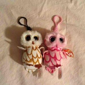 Ty Beanie Boo Owl Key chains